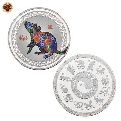 WR Chinese New Year 12 Animal Zodiac Signs SILVER Coin Mint - Year Of The Rat