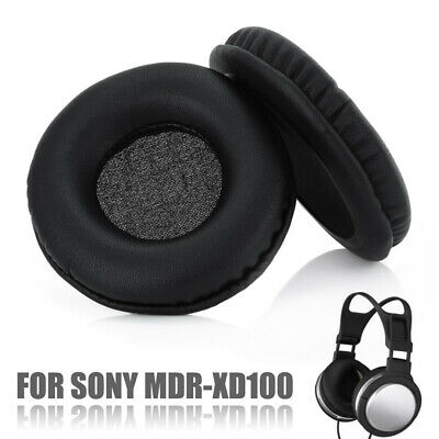 1 Pair Replacement Ear Pads Cushions Covers for Sony MDR-XD100 Headphones Black