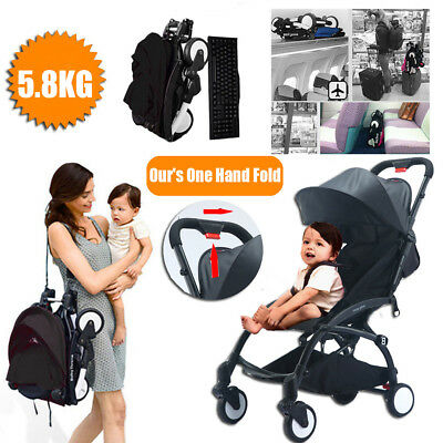 Lightweight Compact Baby Travel Stroller Carry On Plane Pram Foldable Pushchair