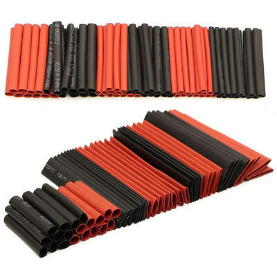 127Pcs 2:1 Assortment Heat Shrink Tubing Tube Wire Cable Sleeving Wrap Kit