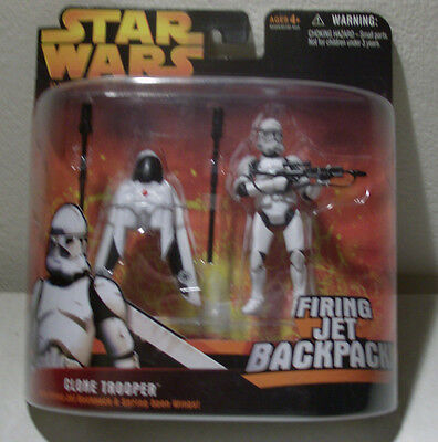 Star Wars Revenge of the Sith RotS Clone Trooper Firing Backpack/ Deluxe MOC