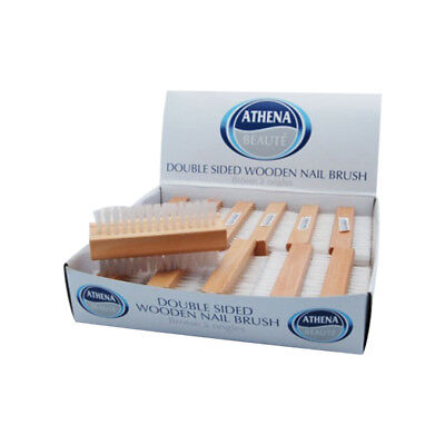 Athena Double Sided Wooden Nail Brush