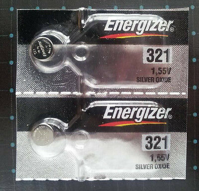 2 Energizer 321 (SR616SW)  Silver Oxide  Watch Battery  Fast USA Shipping  1.55V