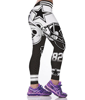 Women Fitness Leggings Team Dallas Cowboys Sport 3D Yoga Pants Gym Training Run