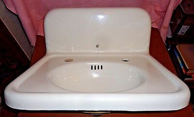 "Antique Porcelain Sink Standard Works Porcelain Cast Iron Sink 20"" X 24"",usa"