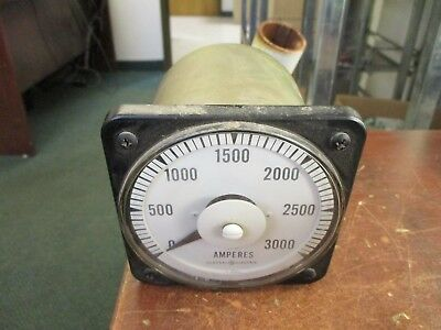GE/PMC AC Ammeter 103 131 LSUA Range: 0-3000A Used