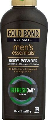 Gold Bond Ultimate Men's Essentials Body Powder Refresh 360 Degrees (10.0 oz.)