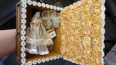 Antique German bisque doll / china head - beautiful box with accessories