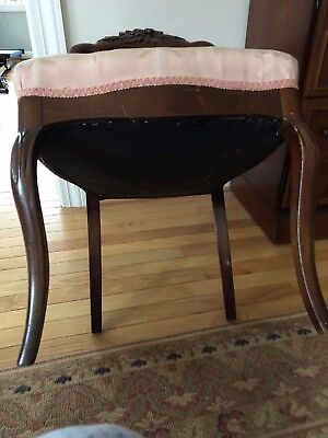 Hand Carved Mahogany Antique Ballon Back Chairs - Pair