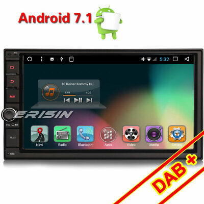 Double Din Android 7.1.2 Car GPS SAT NAV Stereo Radio WiFi 3G DVR OBD SD BT DAB+