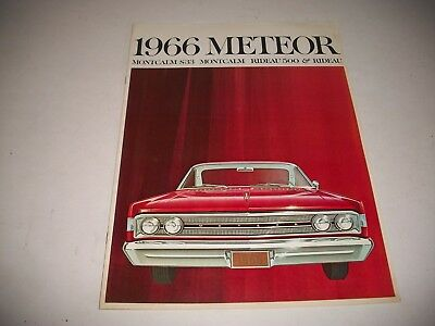 1966 Canadian Meteor Deluxe Sales Brochure S-33 Montcalm Rideau Convertible