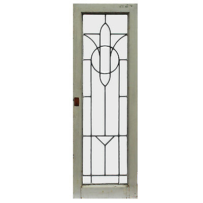 Antique American Leaded Glass Windows, 5 Available, NLG212