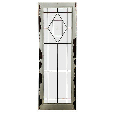 Antique American Beveled & Leaded Glass Windows, 2 Available, NLG213