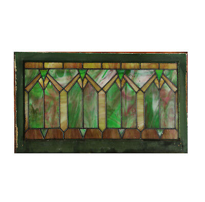 Antique Arts and Crafts American Stained Glass Window, NSG181
