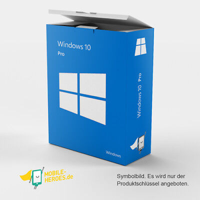 Microsoft Windows 10 Professional✔MS Win 10 Pro✔32/64 Bit✔NEU SOFORT