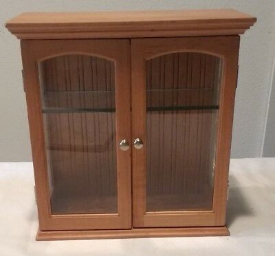 "Pine Curio Cabinet/Display for table top or wall 10-1/2"" x 10-1/2"" Curio Display"