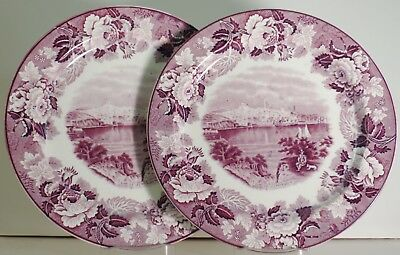 Enoch Woods Old Baltimore Dinner Plates (2)