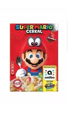 Super Mario Cereal Limited Edition Nintendo Switch Amiibo Odyssey Priority Ship!