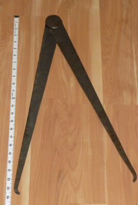 "Antique Hand Forged Iron Caliper, Blacksmith, STAMPED No. 270, 24"" long, 46"" gap"