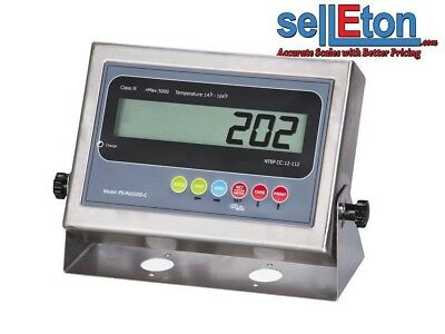 NEW PS-IN202SS-C LCD Indicator with 2 Rs-232 ports /Floor or Truck scale base