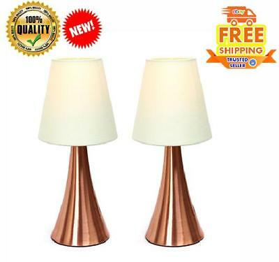 Modern Stand Table Lamps 2 Set Touch Sensor Bedroom Night Desk Lights Cream