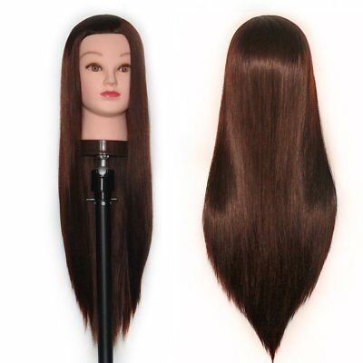 Long Hair Mannequin Head for Hairdresser Stylist Cosmetology Student Braid Curl