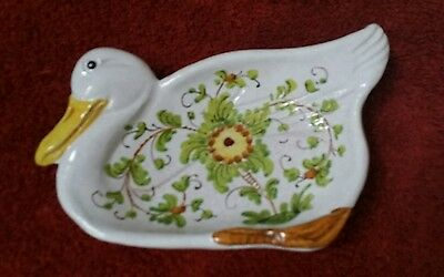 Duck or Goose Ceramic Spoon Rest Made in Italy