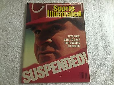 Sports Illustrated Magazine From May 9, 1988 - Pete Rose Suspended on the Cover