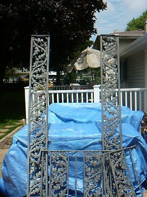 Vintage Steel Iron Metal Handrail / Porch Supports / Scrolls / Brackets