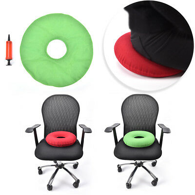 inflatable rubber ring round seat  medical hemorrhoid pillow donut +pump o1w