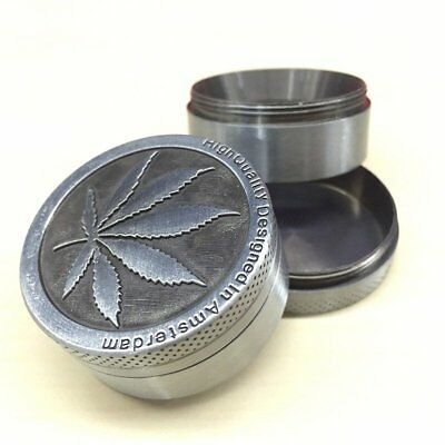 Tobacco Herb Spice Grinder 4 Piece Herbal Alloy Smoke Metal Crusher For Gift