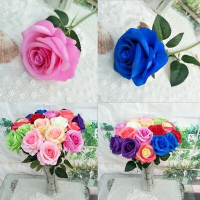 2Pcs Artificial Rose Flower Heads Craft For Home Wedding Party Decoration