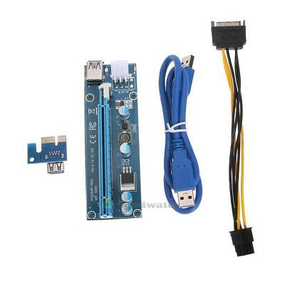 Mini PCI-E 1X Extension Cable Powered Riser Adapter S6H2
