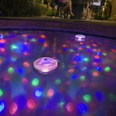 1X Floating Underwater  LED Disco Light Glow Show Swimming Pool Hot Tub Spa·Lamp