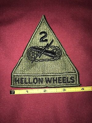 "Vintage United States Army 2nd Armored Division ""Hell on Wheels"" (subdued) Patch"