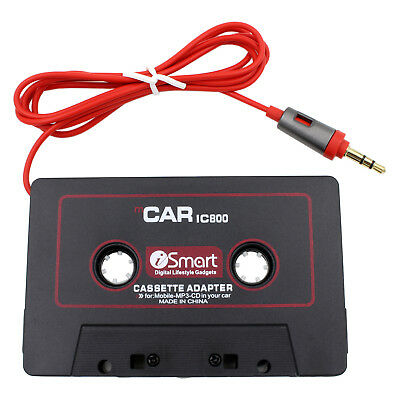 3.5mm AUX Car Audio Cassette Tape Adapter Transmitters For ZTE Zmax Pro Phone