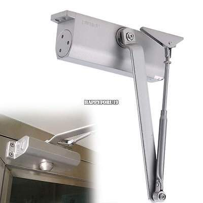 85~120KG Aluminum Commercial Door Closer Two Independent Valves Control~Sweep