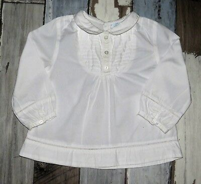 💙 Superbe Blouse blanche OBAIBI Taille 12 mois 💙