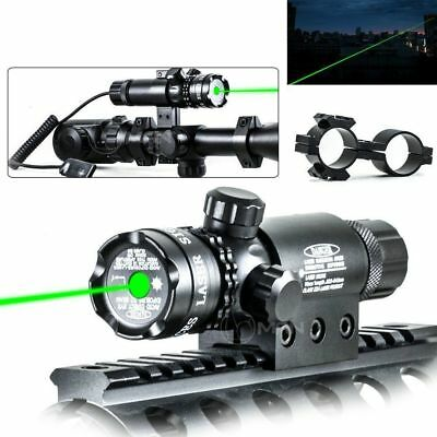 Tactical Green Laser Sight Rifle Gun Mount Scope Rail & Remote Switch Hunting ou
