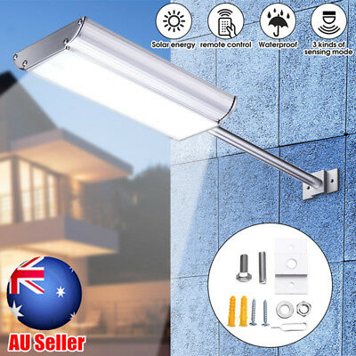 Solar 70 LED Microwave Motion Sensor Light Outdoor Street Wall Lamp Waterproof
