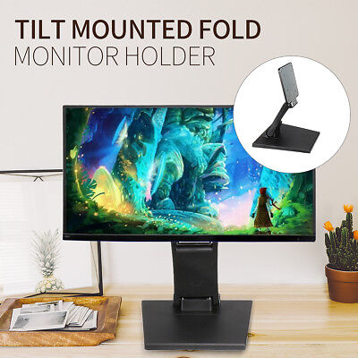 Foldable 10~27'' Touch Screen Display Stand Tilt Mounted VESA Monitor Holder HOT