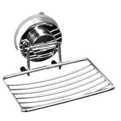 Stainless Steel Strong Vacuum Suction Bathroom Accessory Soap Dish Holder Tray