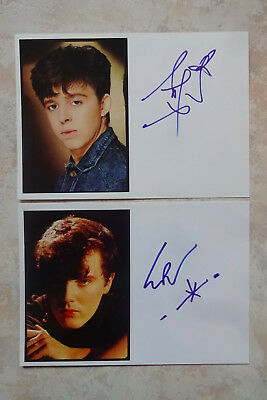 "R. Orzabal & C.Smith ""Tears for Fears"" Autogramme signed je 10x15 cm Karteikarte"