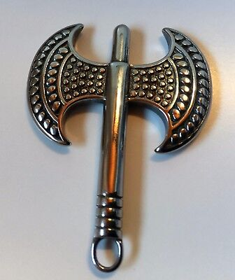 Stainless Steel Pendant Double Axe Viking Thor Nordic God of Thunder Solid -