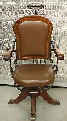 Antique Century Dental Office Set Chair/Cabinet/Compressor/Tools