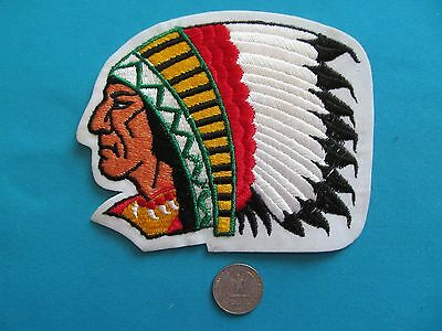 1 Vintage 70S Huge Indian Head Chief Tribe First Nations Patch Crest Emblem