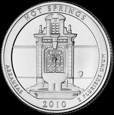 "2010 P Hot Springs National Park Quarter Arkansas ""Brilliant Uncirculated"" ATB"