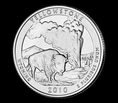 "2010 D Yellowstone National Park Quarter Wyoming ""Brilliant Uncirculated"" ATB"