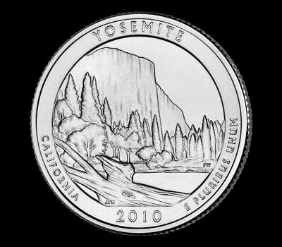 "2010 P Yosemite National Park Quarter California ""Brilliant Uncirculated"" ATB"