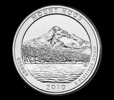 "2010 D Mount Hood National Park Quarter Oregon ""Brilliant Uncirculated"" ATB"